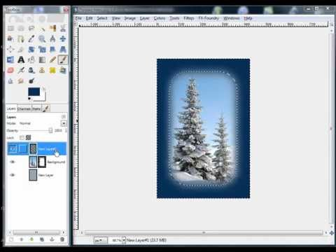 GIMP Tutorial Beginners Mask and Image Edge Effects