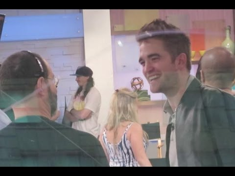Robert Pattinson at Good Morning America with Guy Pearce to promote The Rover