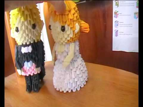 3d Origami Bride And Groom Tutorial