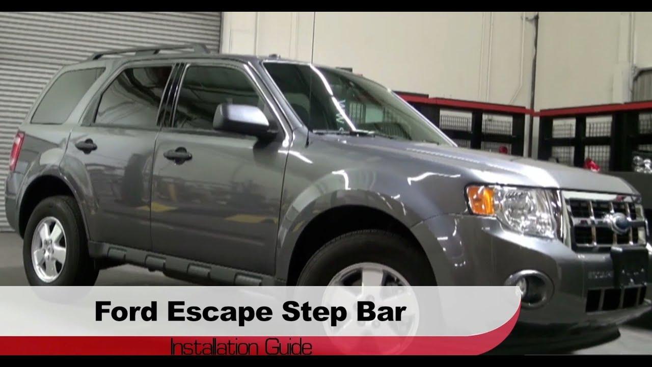 Spyder Auto Installation  2008-2012 Ford Escape  Mazda Tribute Step Bars