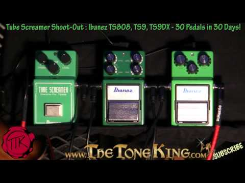 Ibanez Tube Screamer Shoot-Out : TS808, TS9, TS9DX 30 Pedals in 30 Days #13 Winter NAMM 2011 '11