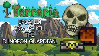 Terraria! How to Kill the Dungeon Guardian!