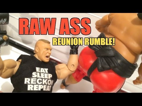 GTS WRESTLING: Raw REUNION Rumble! WWE Figure Matches Animation! Mattel Elite PPV Event!