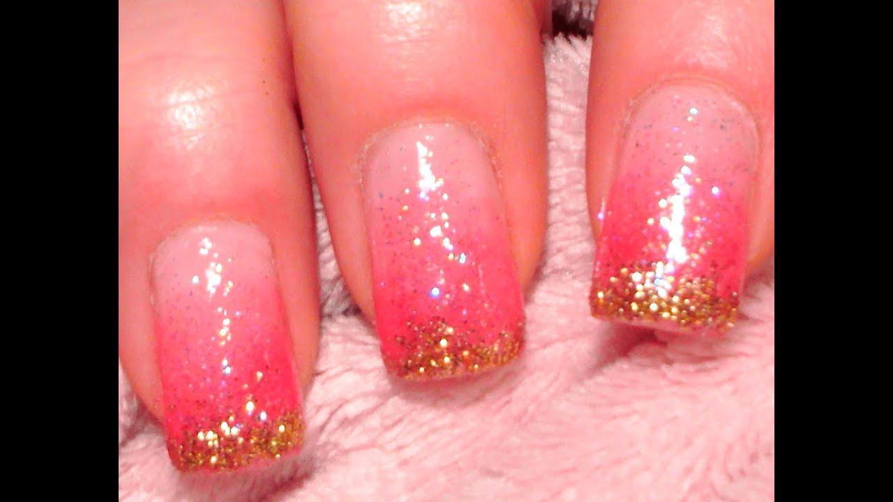 Sweet glitter nails nageldesign selber machen tutorial youtube - Nageldesign tutorial ...