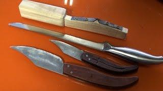 Afilador de cuchillos casero