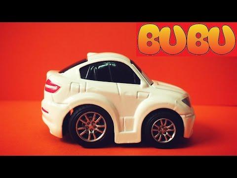 Xe Đồ Chơi   Bé Tiba Chơi Trò Đua Xe Ô Tô Hoạt Hình Racing Car Toy Crash For Kids -Play Doh BuBu TV
