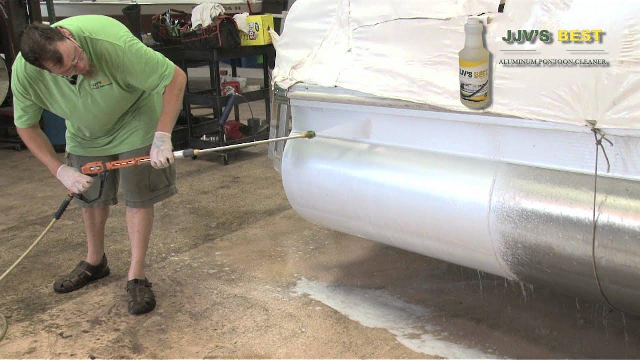 Jjvs Best Aluminum Pontoon Cleaner Application Youtube