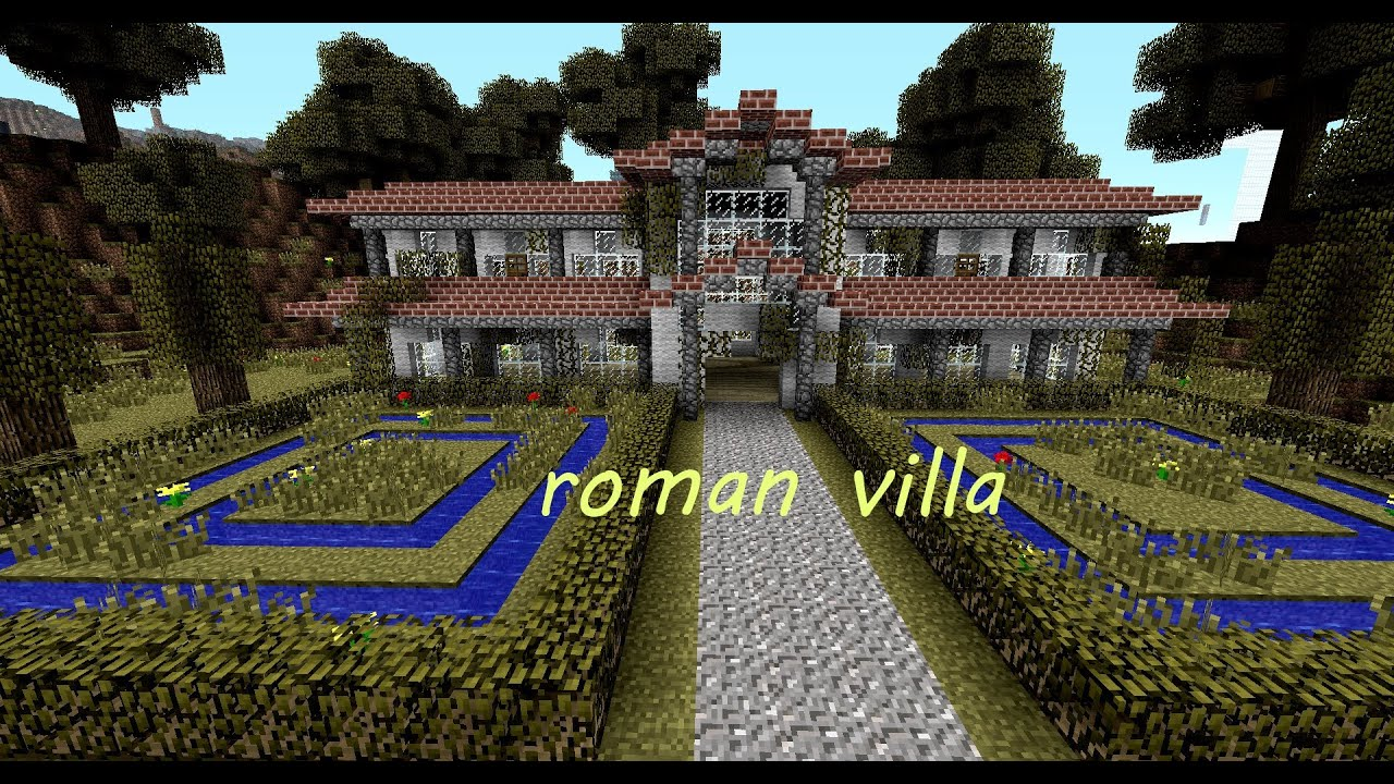 Minecraft R 246 Mische Villa Roman Villa Download Youtube