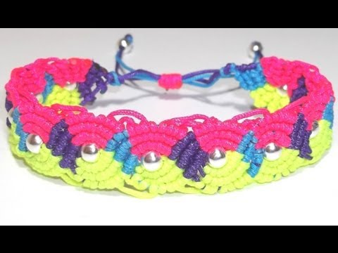 COMO HACER UNA PULSERA DE OCHOS MULTICOLOR CON NUDOS DE MACRAME AJUSTABLE TUTORIAL DIY