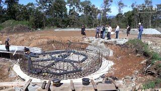 В Артёме быстрыми темпами идёт строительство парка отдыха и детского городка.