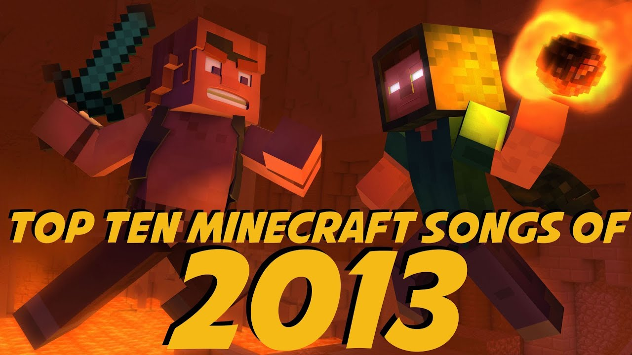 youtube minecraft top 10 music videos 2013