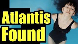 on Google earth Atlantis found off Spain, real Atlantis facts proof Atlantis found Santorini volcano