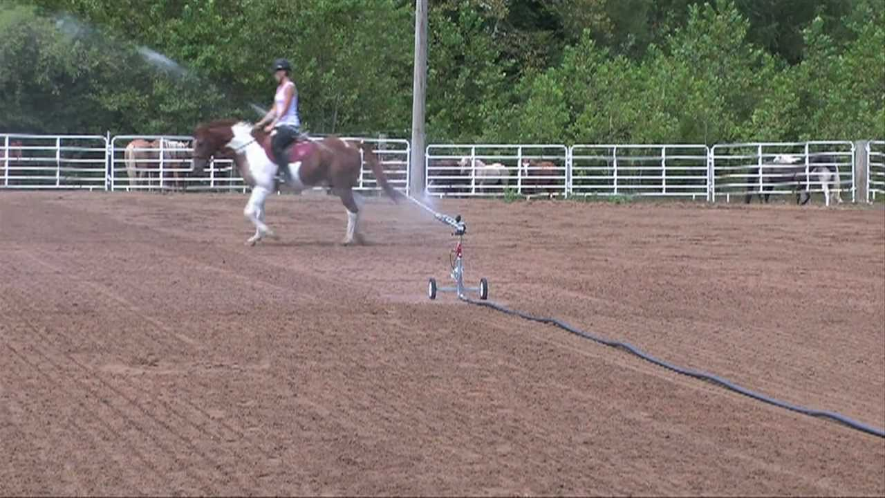 Horse Arena Irrigation With A Kifco Water Reel Youtube