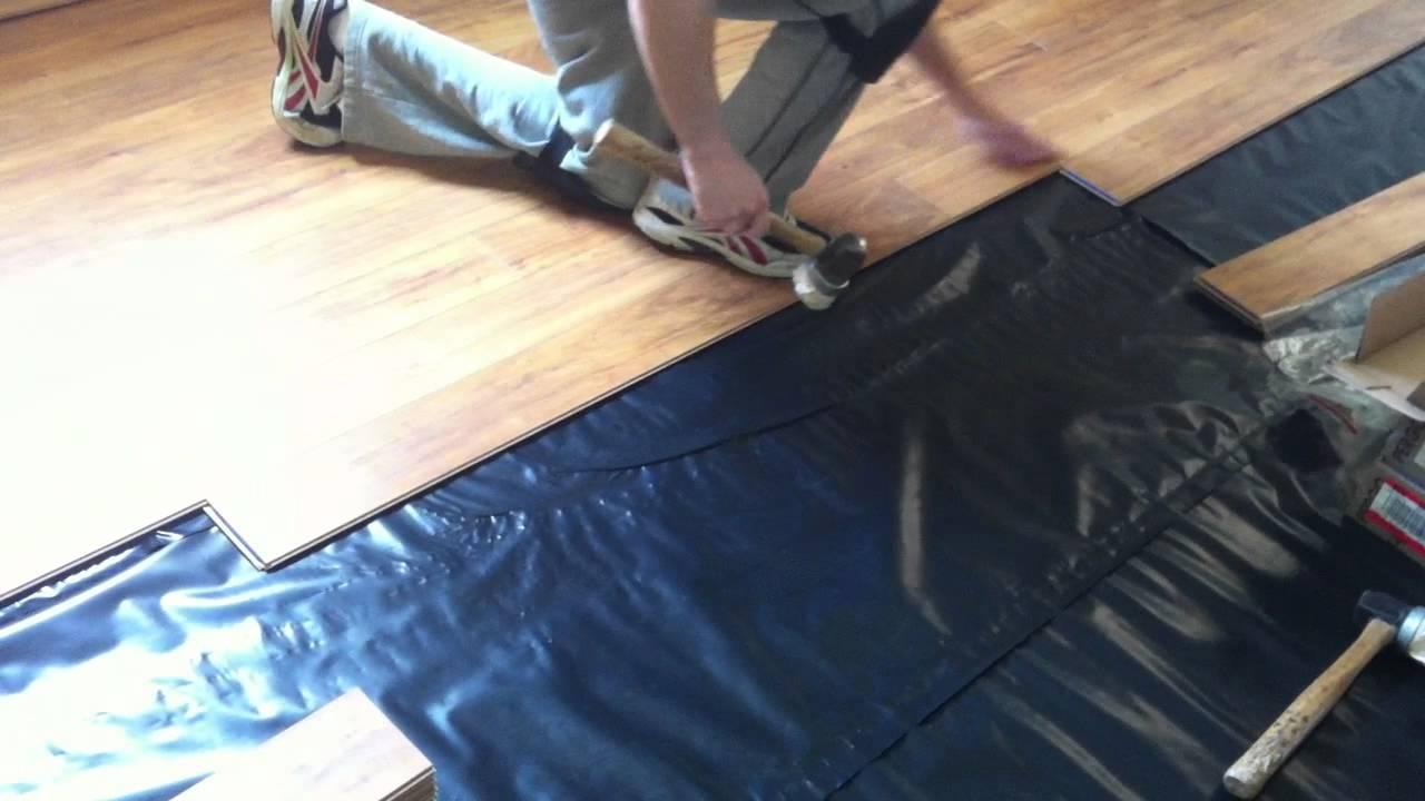 How to install Pergo laminate flooring on concrete subfloor - YouTube