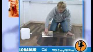 γεμιστικός στόκος σπατουλαρίσματος ξύλου LOBADUR WS EasyFill Plus για προετοιμασία ξυλοπολτού σφραγίσματος αρμών των ξύλων