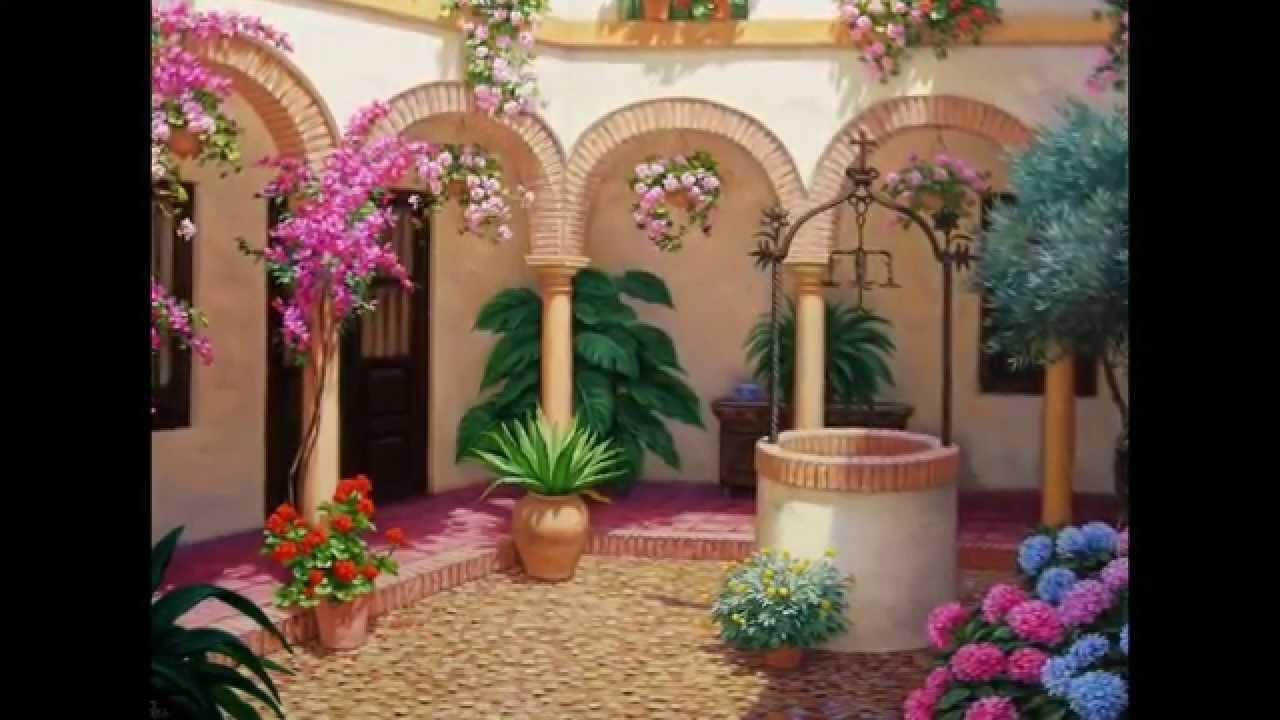 Pinturas de patios andaluces youtube - Imagenes de patios andaluces ...