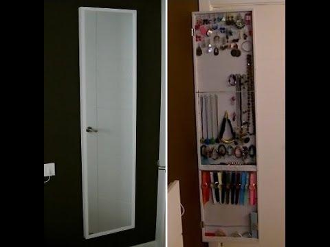Como hacer un armario o espejo joyero diy organizador - Hacer armario empotrado ikea ...