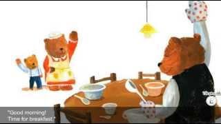 Goldilocks and the three bears story with subtitles