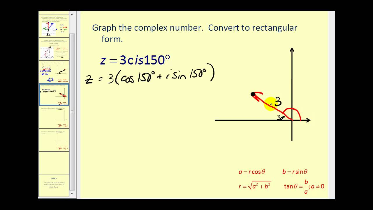 write complex number in standard form Use the imaginary unit i to write complex numbers complex numbers in standard form complex numbers - math 160, precalculus.