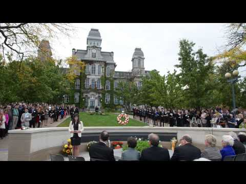 2013 Rose Laying Ceremony, Syracuse University: 25th Anniversary of Pan Am 103
