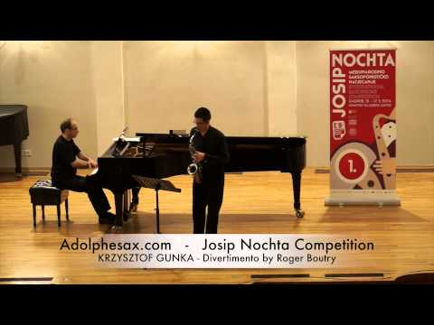 JOSIP NOCHTA COMPETITION KRZYSZTOF GUNKA Divertimento by Roger Boutry