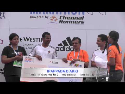 The Wipro Chennai Marathon & Prize Ceremony 2013