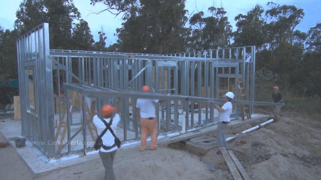 Una vivienda en 30 d as con steel framing youtube - Casas steel framing ...