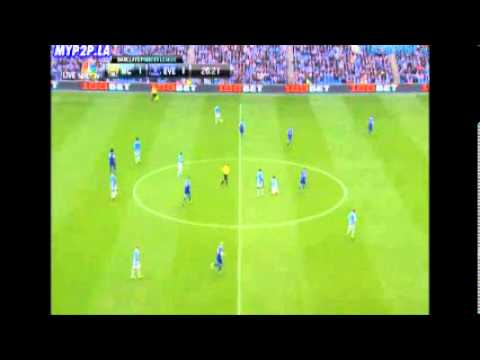 Sergio Agüero Goal - Manchester City vs Everton 3-1 (05.10.13)