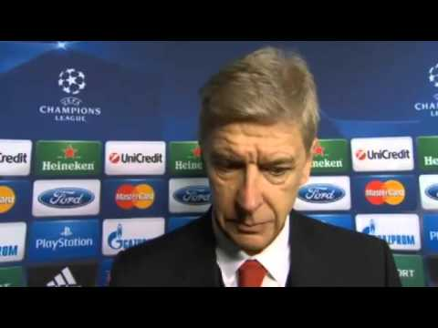 Arsenal 2 Marseille 0 : Arsene Wenger Post Match Reaction