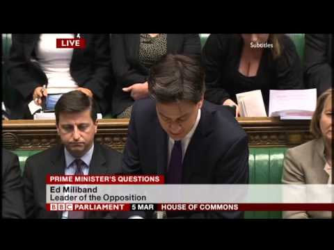 PMQs: Ed Miliband vs David Cameron (5 March 2014)