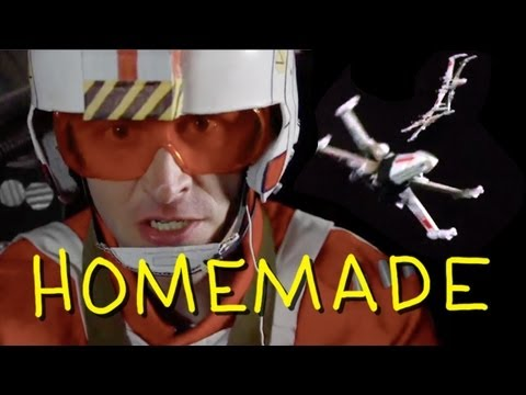 "Star Wars - ""Death Star Trench Run"" - Homemade w/ Chris Hardwick from Nerdist"