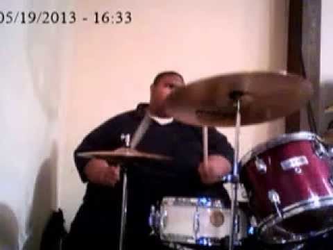 Tyler Johnson on drums