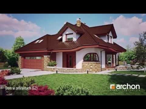 Dom w zefirantach (G2) Wirtualny spacer po wnętrzu - Projekt domu ARCHON+