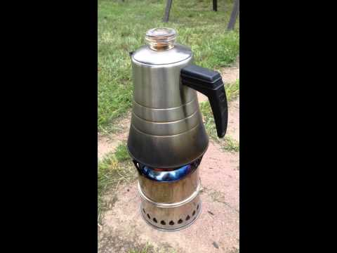 Off Grid Coffee with the Silverfire Scout Wood Gasification Stove