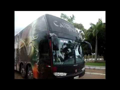 Ônibus da banda Calypso chegando a Juazeiro do Norte- Ce