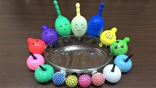 MIXING RANDOM THINGS INTO SLIME!! MAKING SLIME WITH BALLOONS