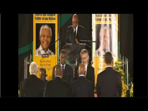 Gerry Adams in Nelson Mandela's Guard of Honour