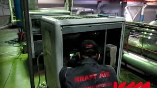 Демонтаж винтового блока Atlas Copco GA 11 FF - сервисные инженеры крафтмаркет24 востанвливают винтовые блоки любой сложности.