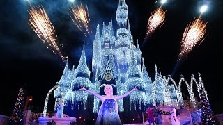 A Frozen Holiday Wish Walt Disney World Castle Lighting