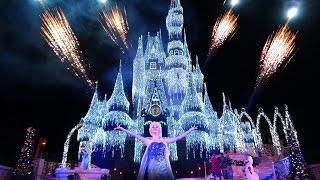 A Frozen Holiday Wish Walt Disney World Castle Lighting