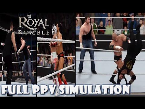 WWE 2K16 SIMULATION: Royal Rumble 2016 (Full PPV) Highlights