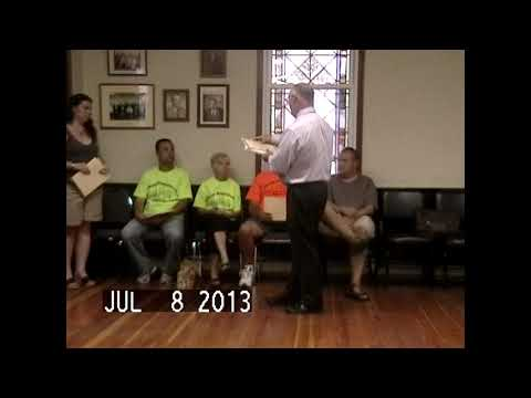 Chazy Town Board Meeting 7-8-13