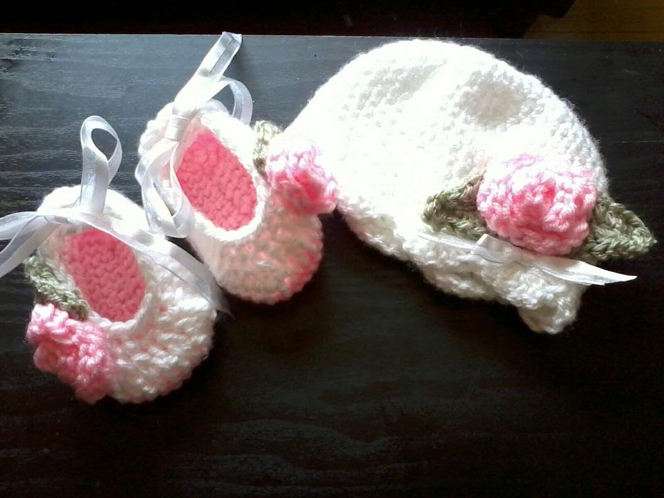 Tutorial Crochet Baby Ballet Booties : Tutorial-Crochet baby ballet booties (Part 2 and final ...