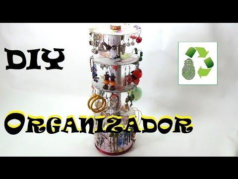 126. DIY ORGANIZADOR DE PENDIENTES (RECICLAJE DE CDS)