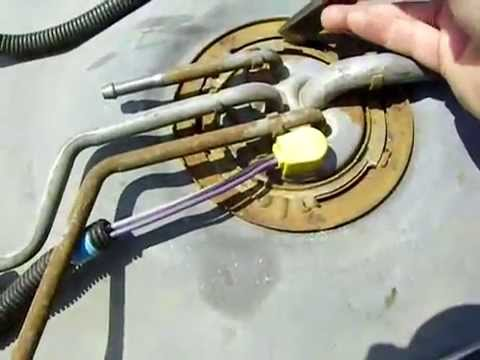 Replace a fuel pump in a 1995 GMC 5.7 - YouTube