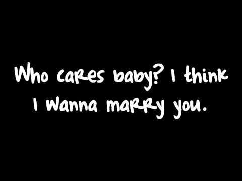 Marry You - Bruno Mars Lyrics