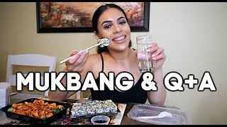 MUKBANG Q+A: EATING SUSHI & ANSWERING YOUR QUESTIONS | JuicyJas