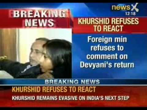 Foreign Minister Salman Khurshid refuses to comment on Devyani's return - NewsX