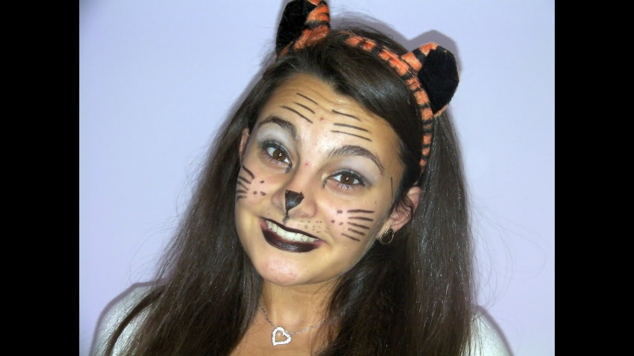 Tiger makeup tigers and makeup on pinterest vizitmir simple tiger halloween makeup youtube baditri Image collections