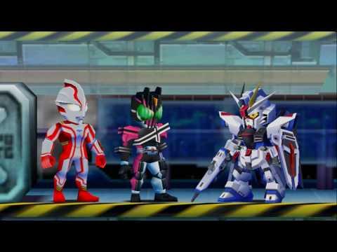 Sieu Nhan Game Play | siêu nhân điện quang | Kamen Rider | Gundam | great battle fullblast #2